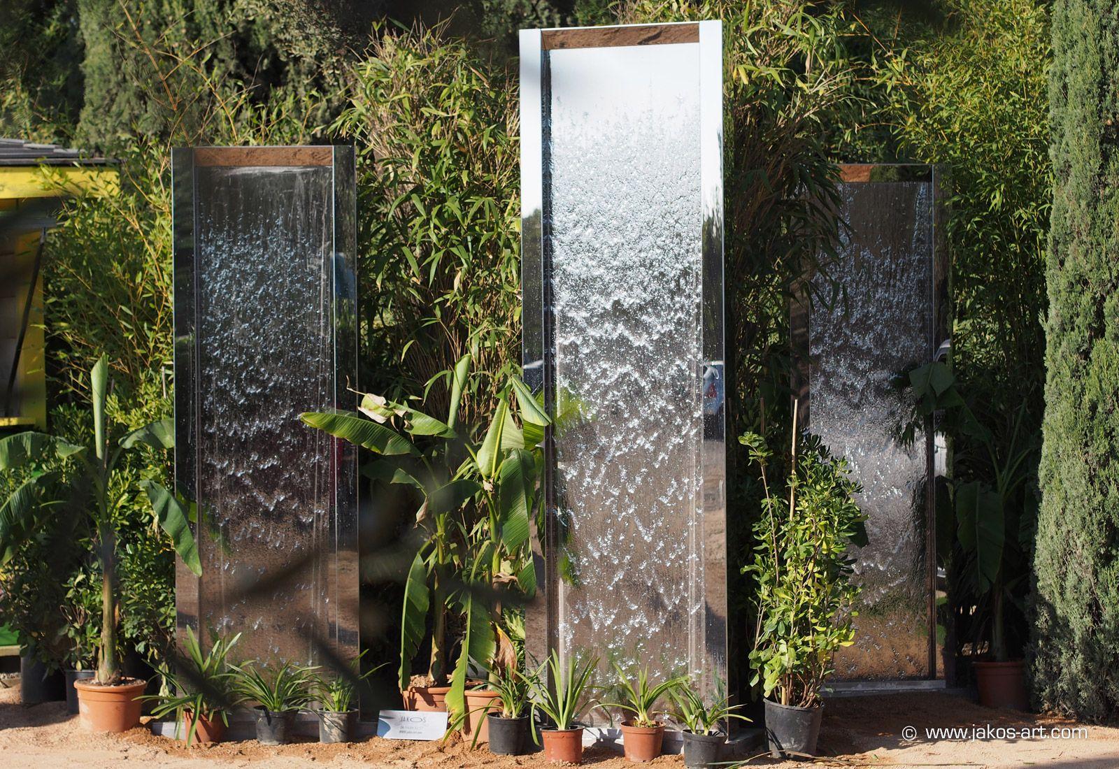 Mur D'eau / Fontaine Extérieure - Jakos | Déco Exterieur ... dedans Fontaine Exterieure De Jardin