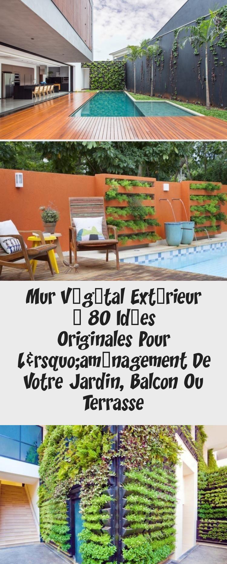 Mur Végétal Extérieur – 80 Idées Originales Pour L ... à Amenagement Mur Jardin