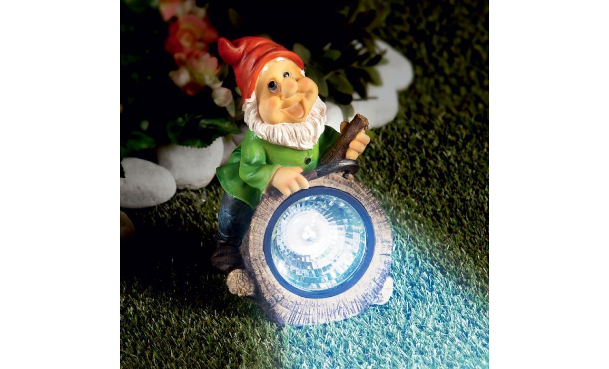 Nain De Jardin Solaire - Achat/vente Lampe Solaire Jardin ... tout Nain De Jardin Pas Cher