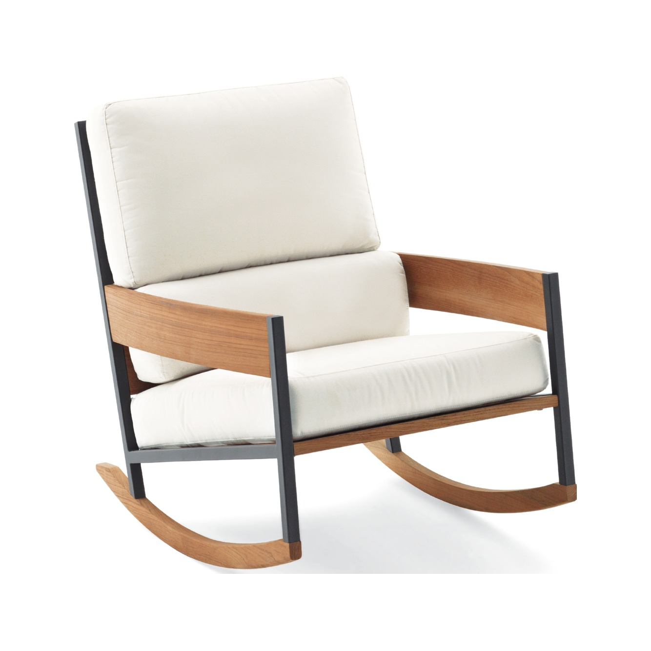 Nap Rocking Chair - Roda | Stainless Steel, Teak | Jdv dedans Rocking Chair Jardin