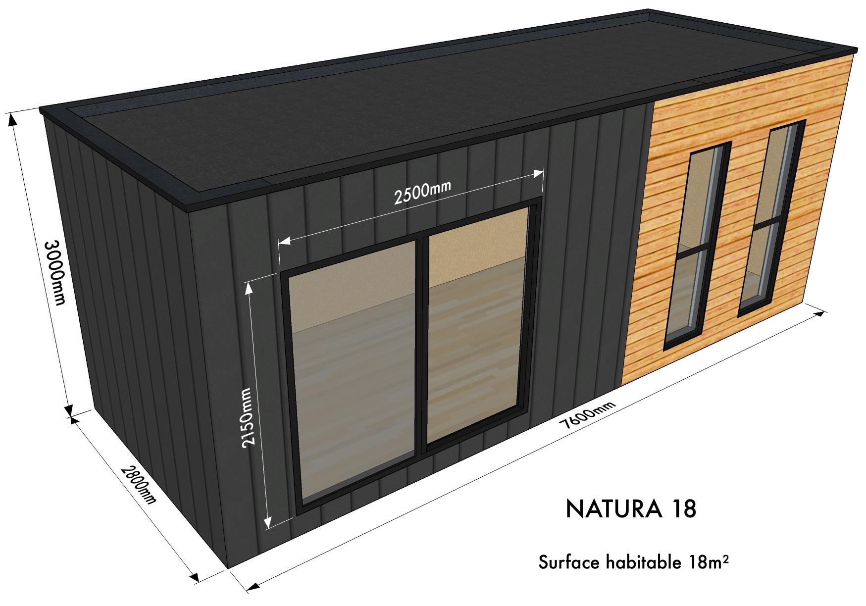 "Natura ""studio"" avec Studio De Jardin Habitable"