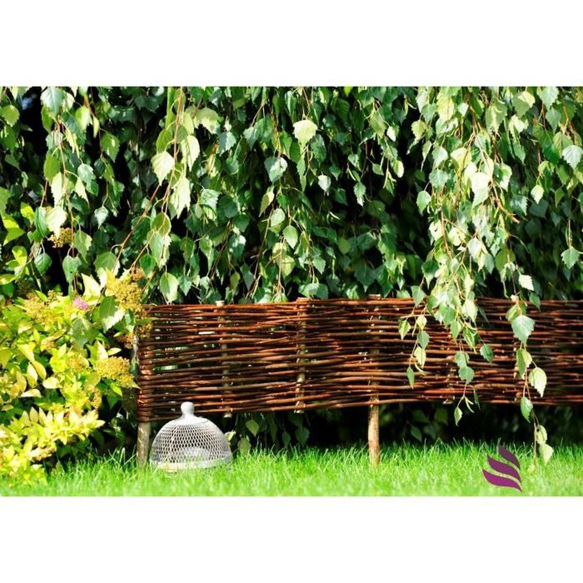 Nature Lounge Bordure En Osier Pour Plate-Bande Pour Plate ... serapportantà Delimitation Jardin