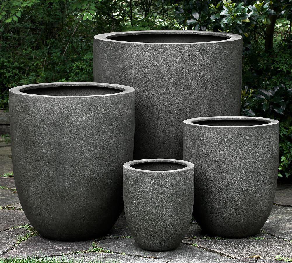 Neo Planter, Medium, Concrete | Décoration Jardin Terrasse ... dedans Jarre De Jardin