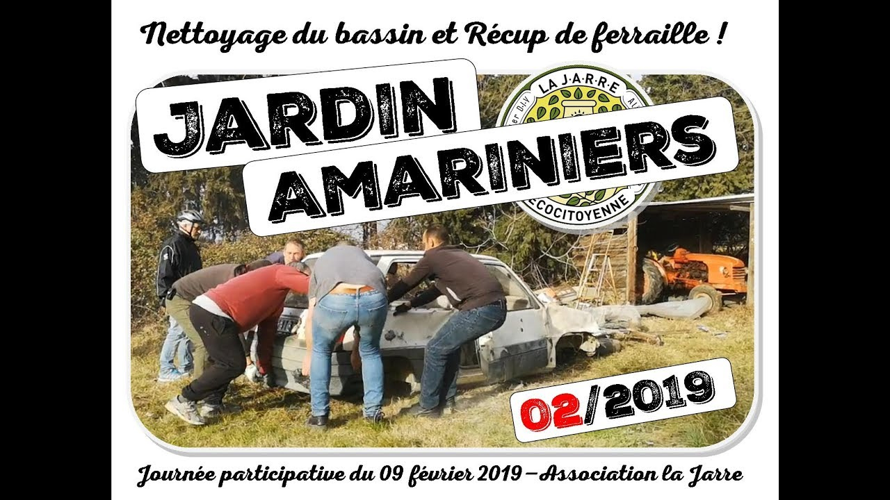 Nettoyage Bassin Et Terrain Jardin Amariniers Asso La Jarre 09 02 2019 concernant Jarre De Jardin