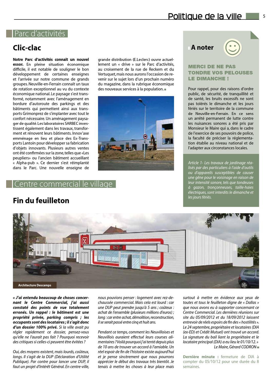 Neuvill'mag 37 By Mairie De Neuville-En-Ferrain - Issuu à Tondeuse Leclerc Jardin
