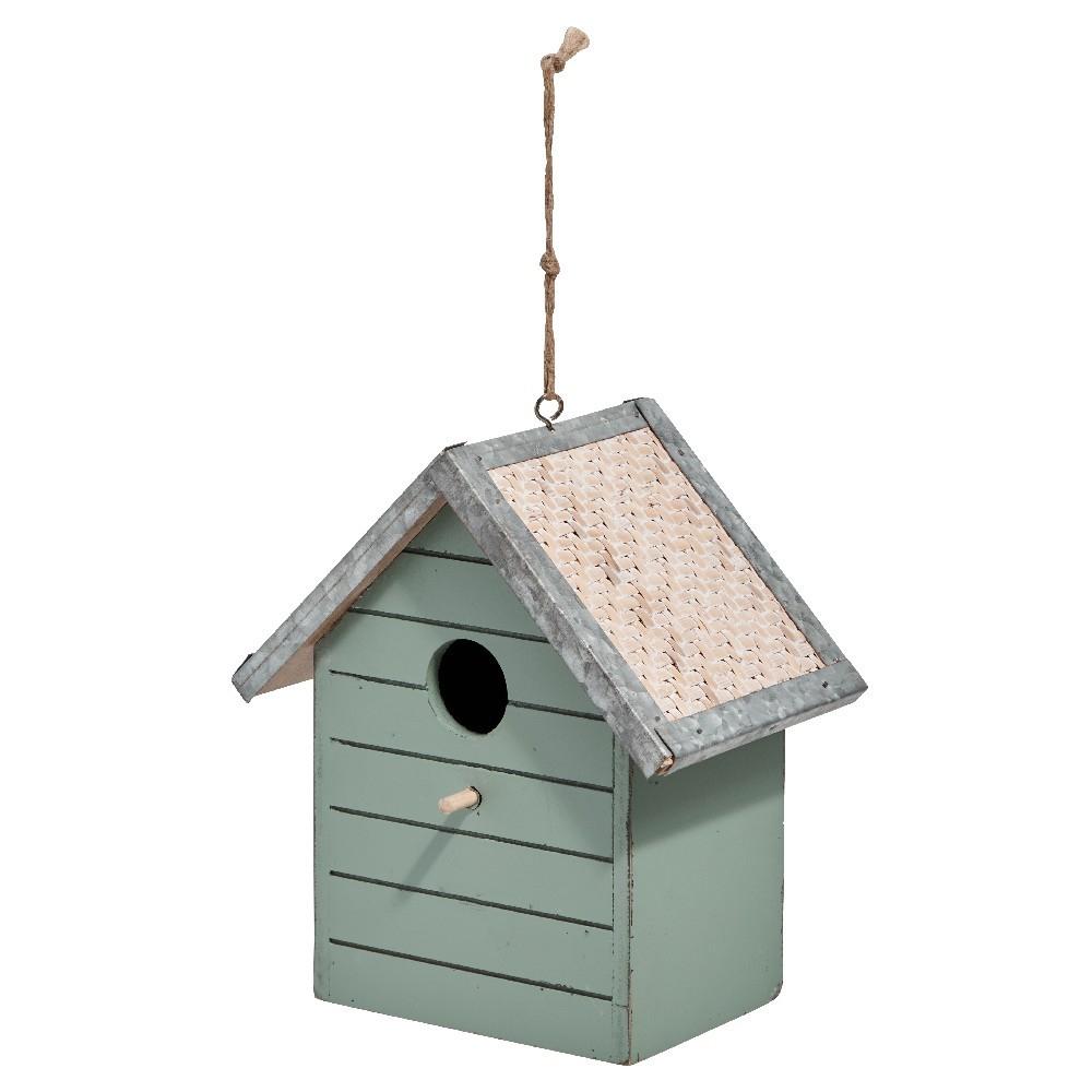 Nichoir À Oiseaux Vert Sauge destiné Abri Oiseau Jardin