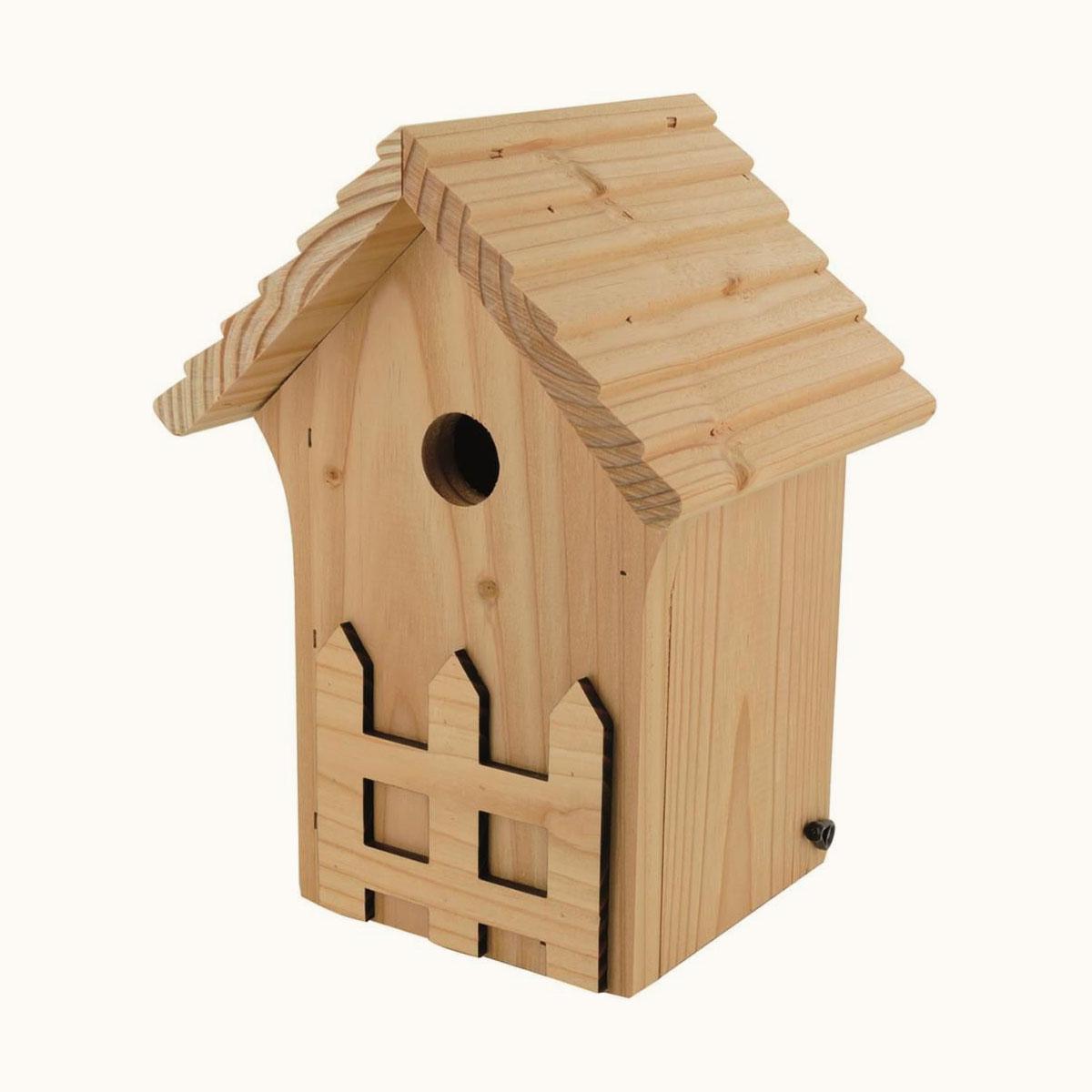 Nichoir En Bois La Crèche Pour Oiseaux (Diamètre D'Entrée De 28 Mm) concernant Abri Oiseau Jardin