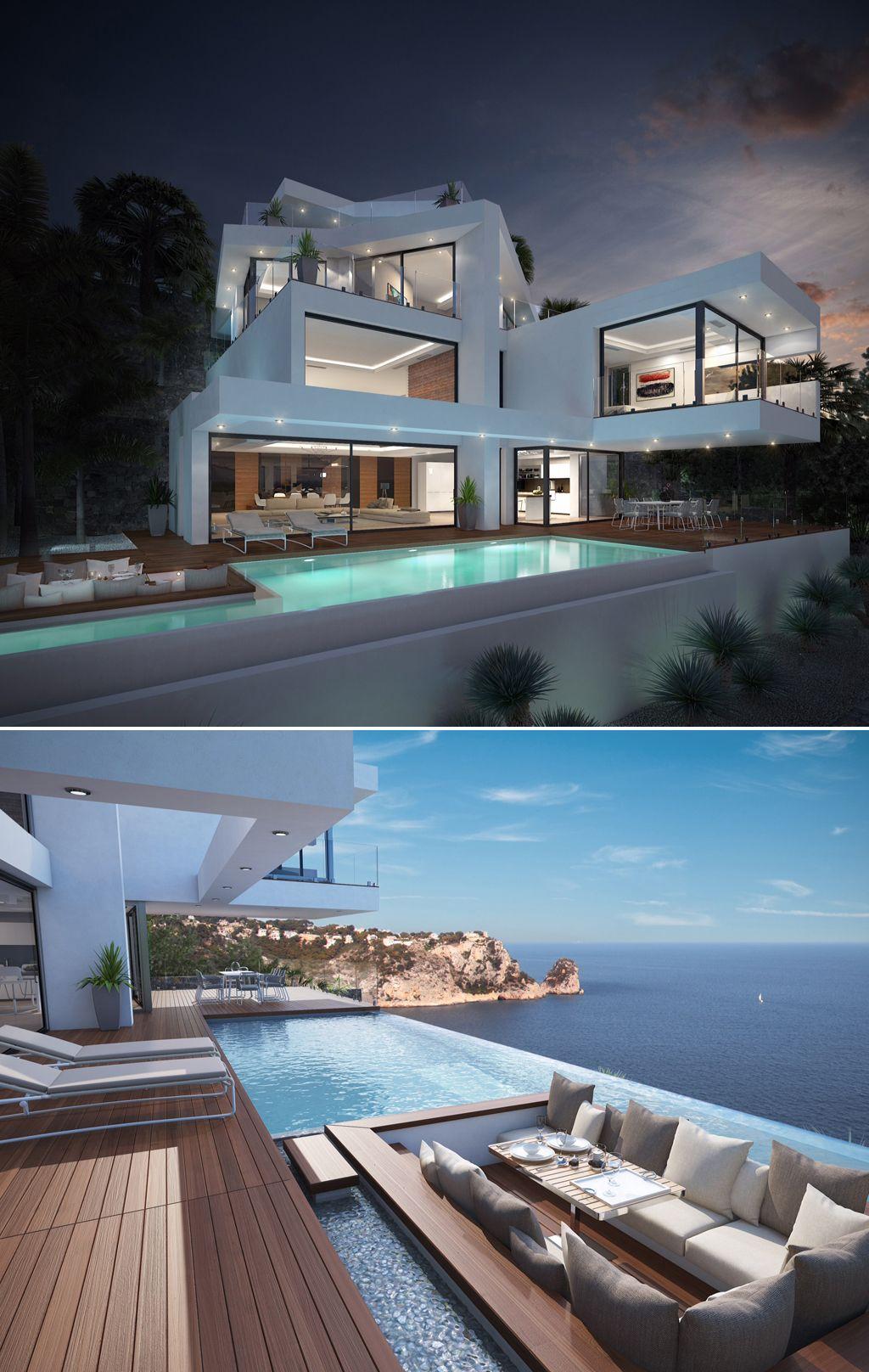 None … | Modern Mimari, Modern Ev Tasarımı serapportantà Location Maison Avec Jardin 34