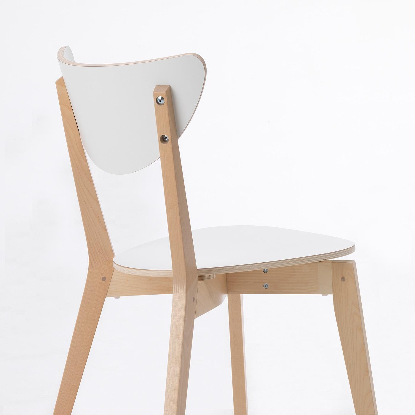 Nordmyra Chaise - Blanc, Bouleau avec Chaises De Jardin Ikea