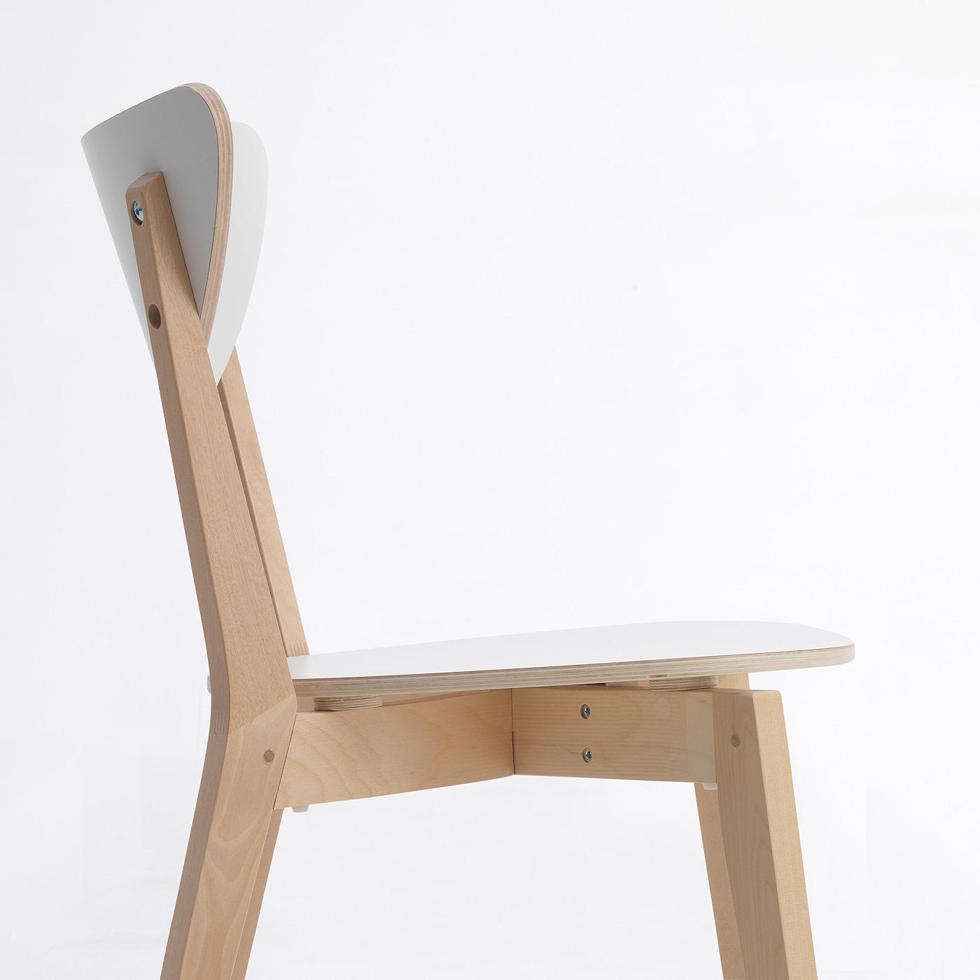 Nordmyra Chaise - Blanc, Bouleau serapportantà Chaises De Jardin Ikea
