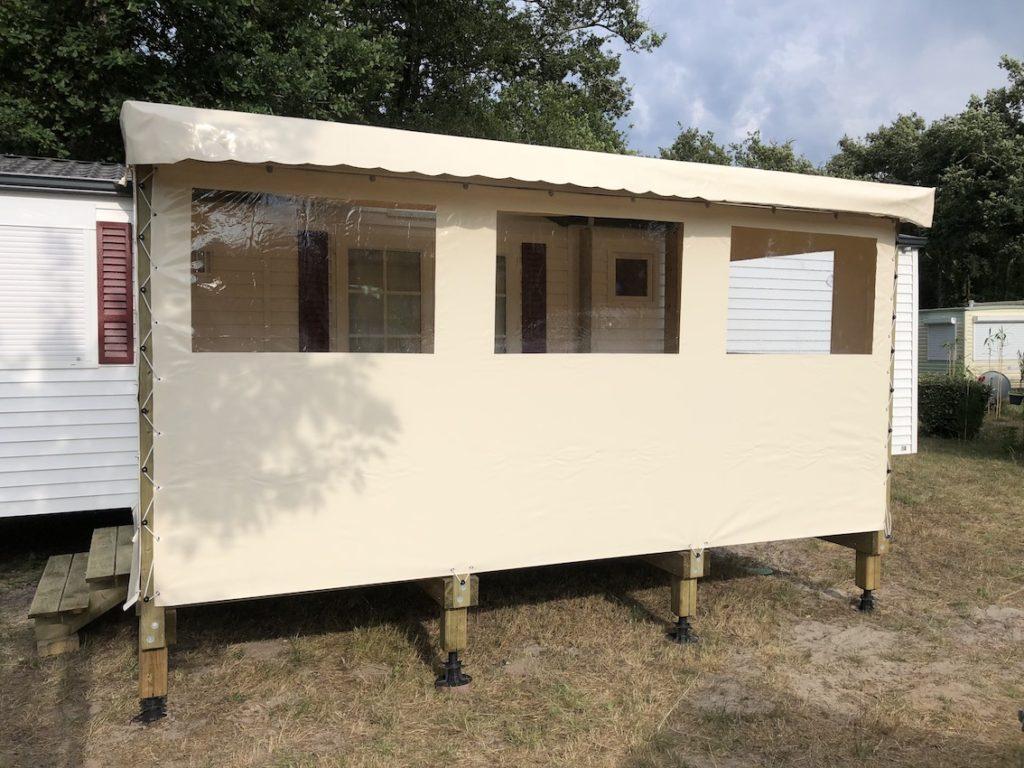 Nos Offres En Terrasses Pour Mobil Home   Home Loisirs encequiconcerne Abri De Jardin 18M2