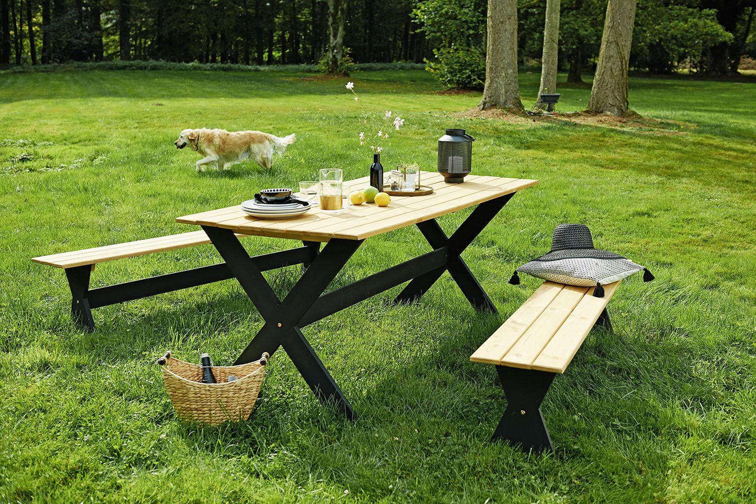Nous Adorons Ce Salon De Jardin En Pin Pour Un Look ... avec Table De Jardin Bricomarché