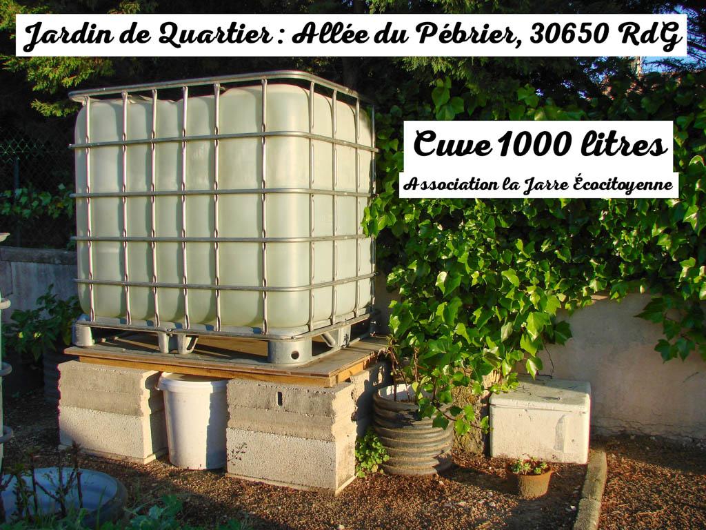 Nouvelle Cuve De 1000 Litres – Merci Éric ! | La Jarre ... serapportantà Jarre De Jardin