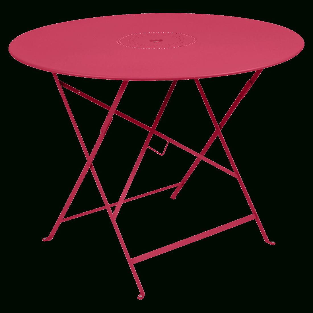 Ø 96 Cm Floréal Table, Outdoor Foldable Table dedans Table Jardin Rose