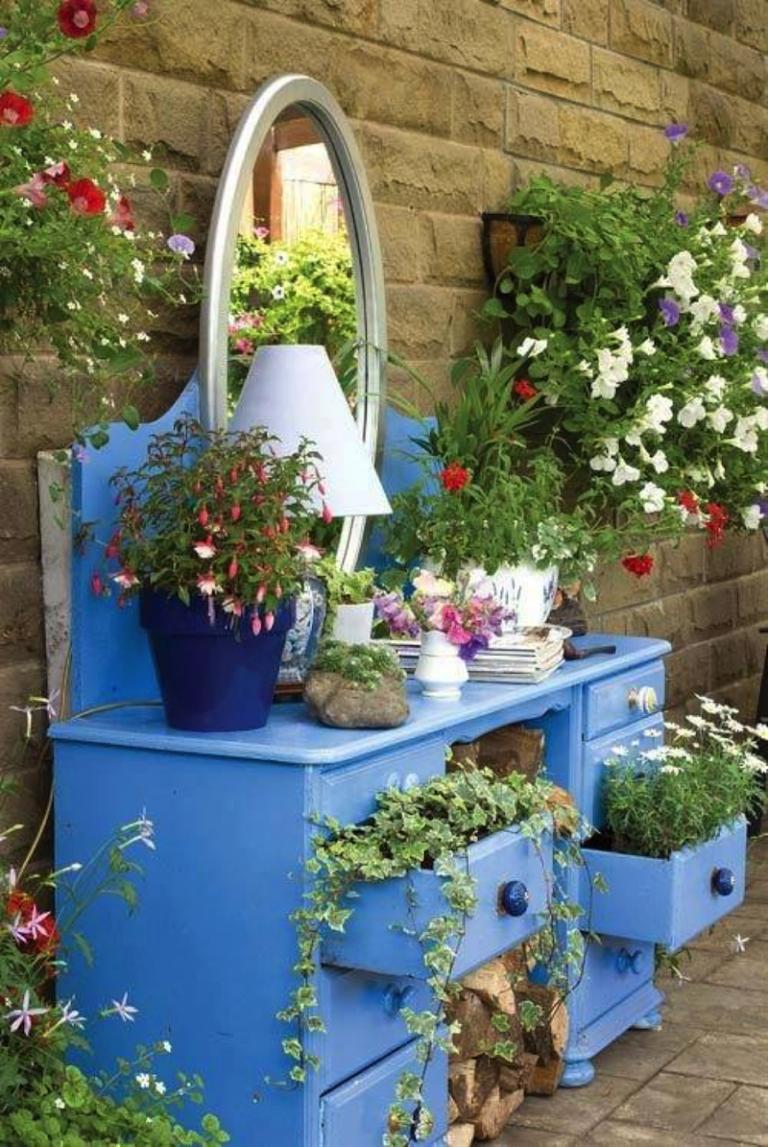 Objets De Récupération En Décoration- L'art D'embellir Le ... pour Recup Pour Le Jardin
