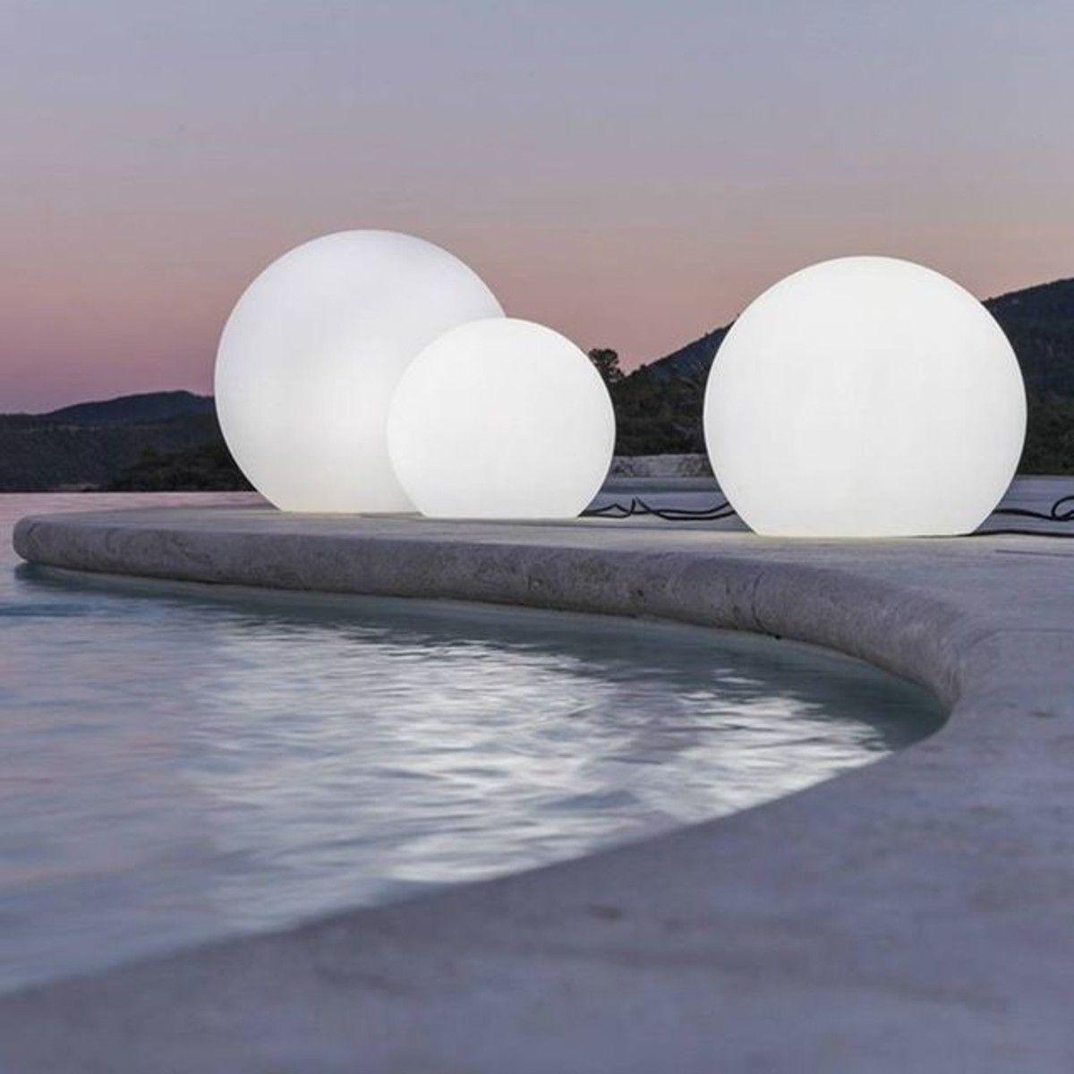 Objets Lumineux Polypropylène Sphère Et Rond Buly - Taille ... à Sphere Lumineuse Jardin
