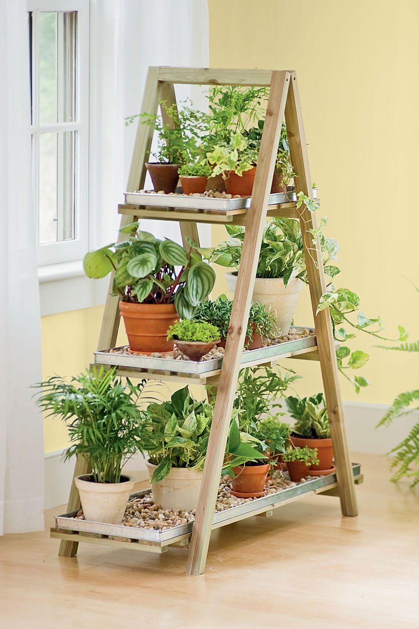 Old Ladders Repurposed As Home Decor | Bricolage De Jardin ... tout Escabeau Jardin