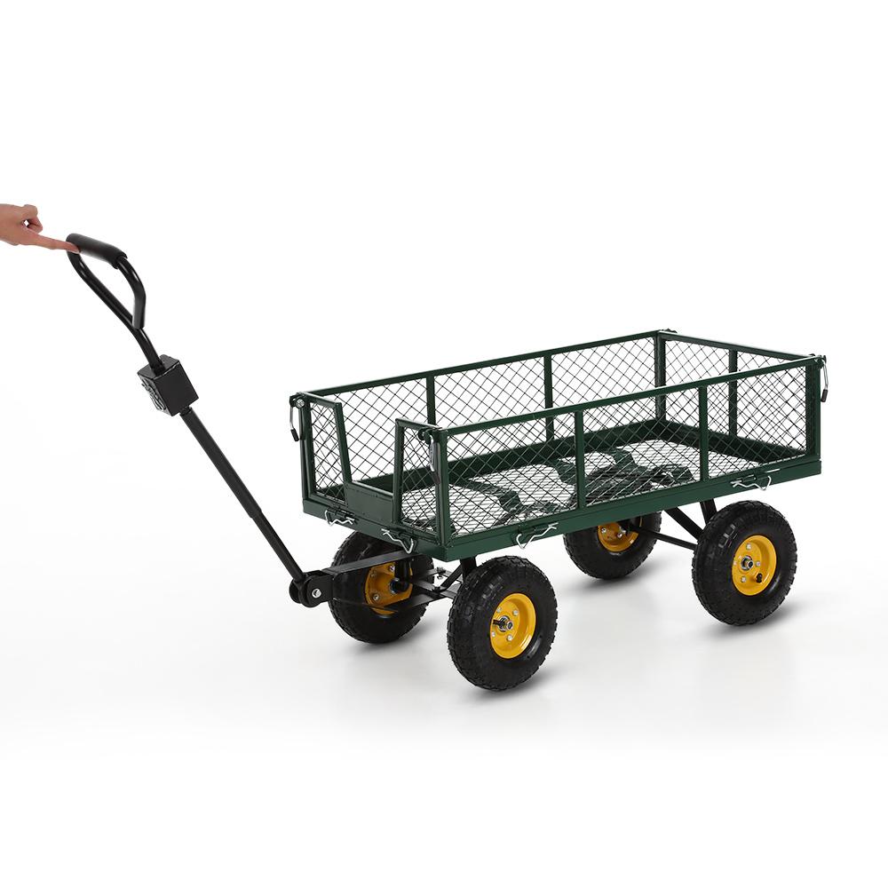 Only 145.75€, Ikayaa Multi-Usage Robuste En Acier Utility Jardin Panier 300  Kg Capacité Plage De Plein Air Pelouse Wagon - Lovdock concernant Chariot De Jardin Multi Usage
