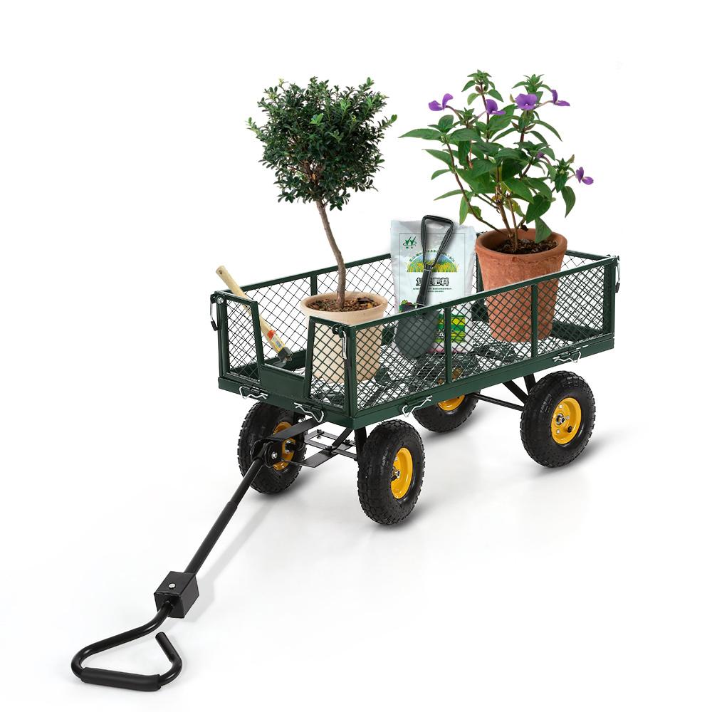 Only 145.75€, Ikayaa Multi-Usage Robuste En Acier Utility Jardin Panier 300  Kg Capacité Plage De Plein Air Pelouse Wagon - Lovdock dedans Chariot De Jardin Multi Usage