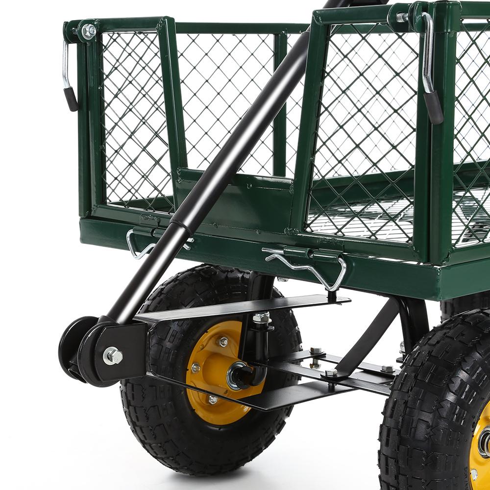 Only 145.75€, Ikayaa Multi-Usage Robuste En Acier Utility Jardin Panier 300  Kg Capacité Plage De Plein Air Pelouse Wagon - Lovdock pour Chariot De Jardin Multi Usage