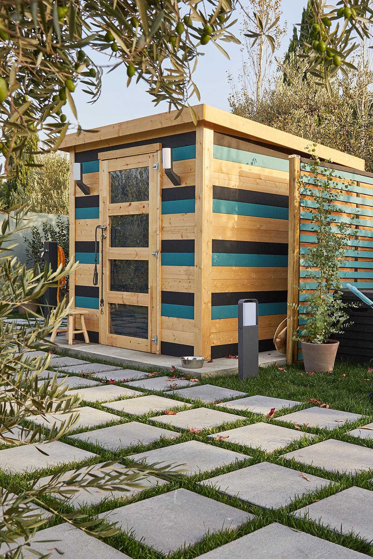 Original, Moderne Et Pratique, Cet Abri Coloré Est Parfait ... concernant Abrit Jardin