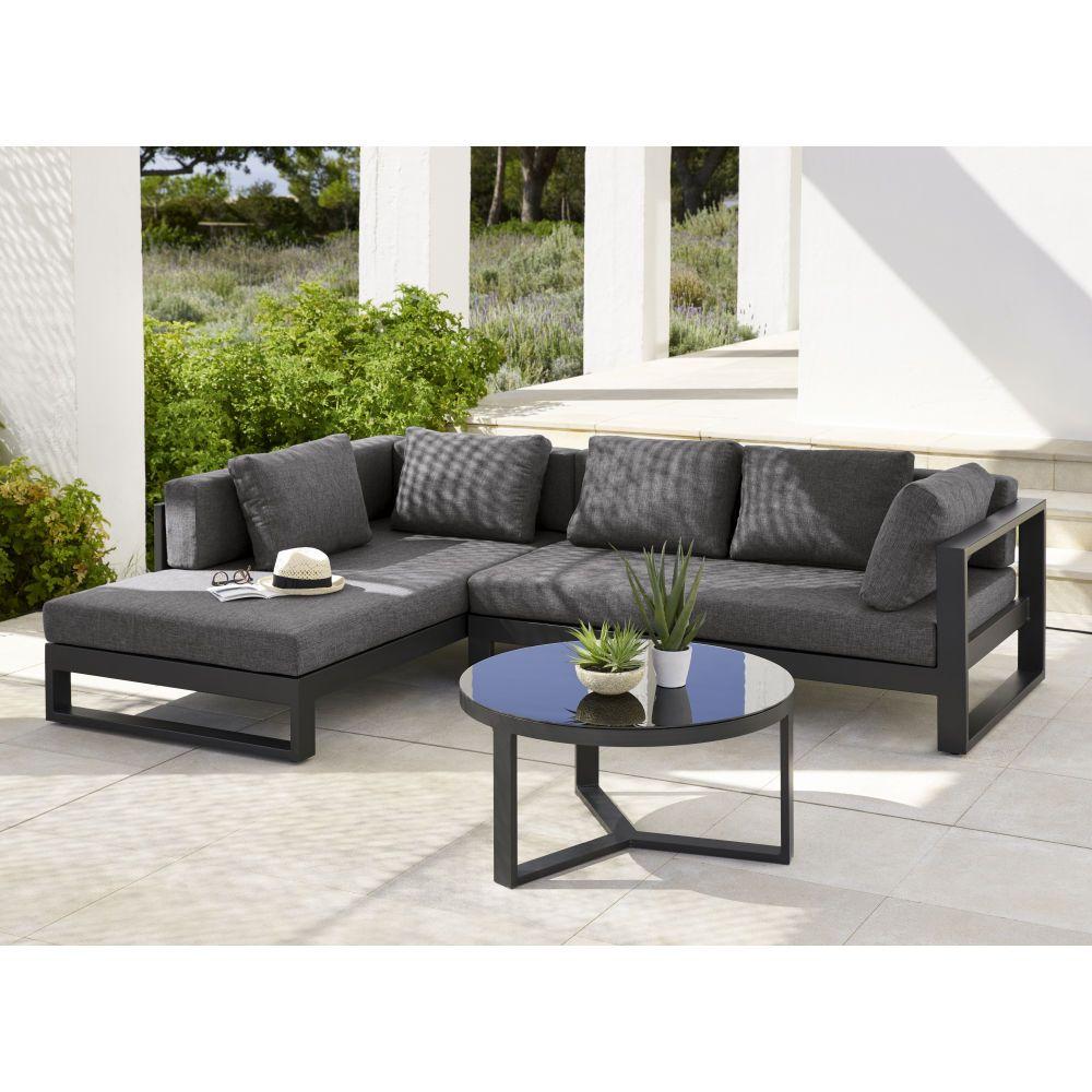 Outdoor Furniture | Aluminium Garden Furniture, Corner Sofa ... intérieur Canapé De Jardin Aluminium