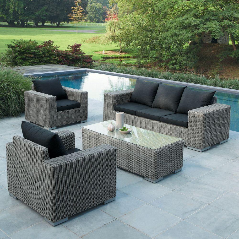 Outdoor Furniture | Sofa Jardin, Paisajes Y Sofá De 3 Plazas serapportantà Salon De Jardin Allibert California
