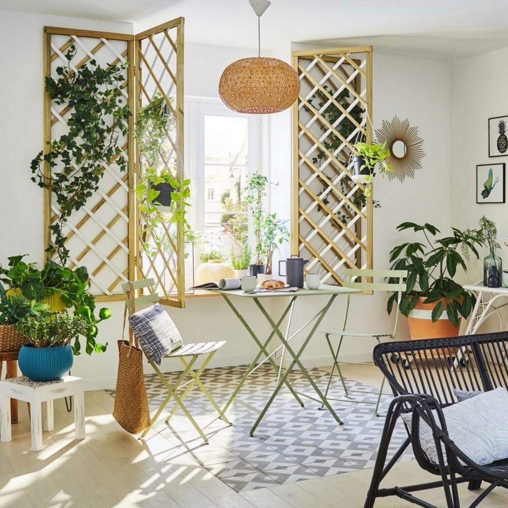 Outdoor Indoor : Quand Le Mobilier Extérieur S'invite À L ... intérieur Mobilier De Jardin Leroy Merlin