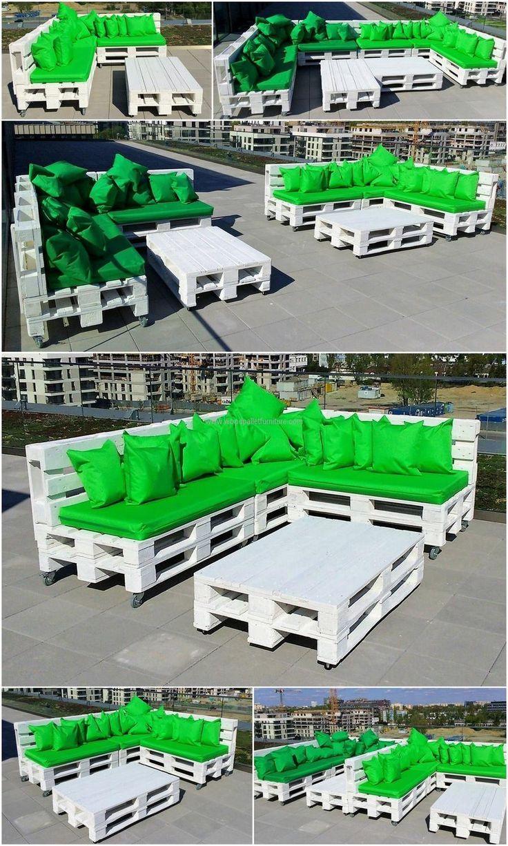 Outdoor-Möbel-Idee Mit Recycling-Paletten En 2019   Meuble ... encequiconcerne Salon De Jardin En Bois Pas Cher