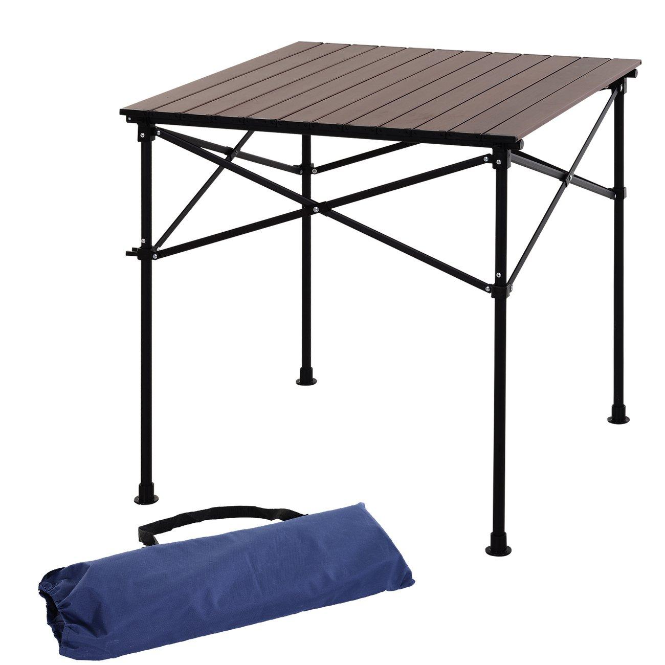Outsunny Table Pliante En Aluminium Table De Camping Table De Jardin 4  Personnes + Sac De Transport à Table Jardin 4 Personnes