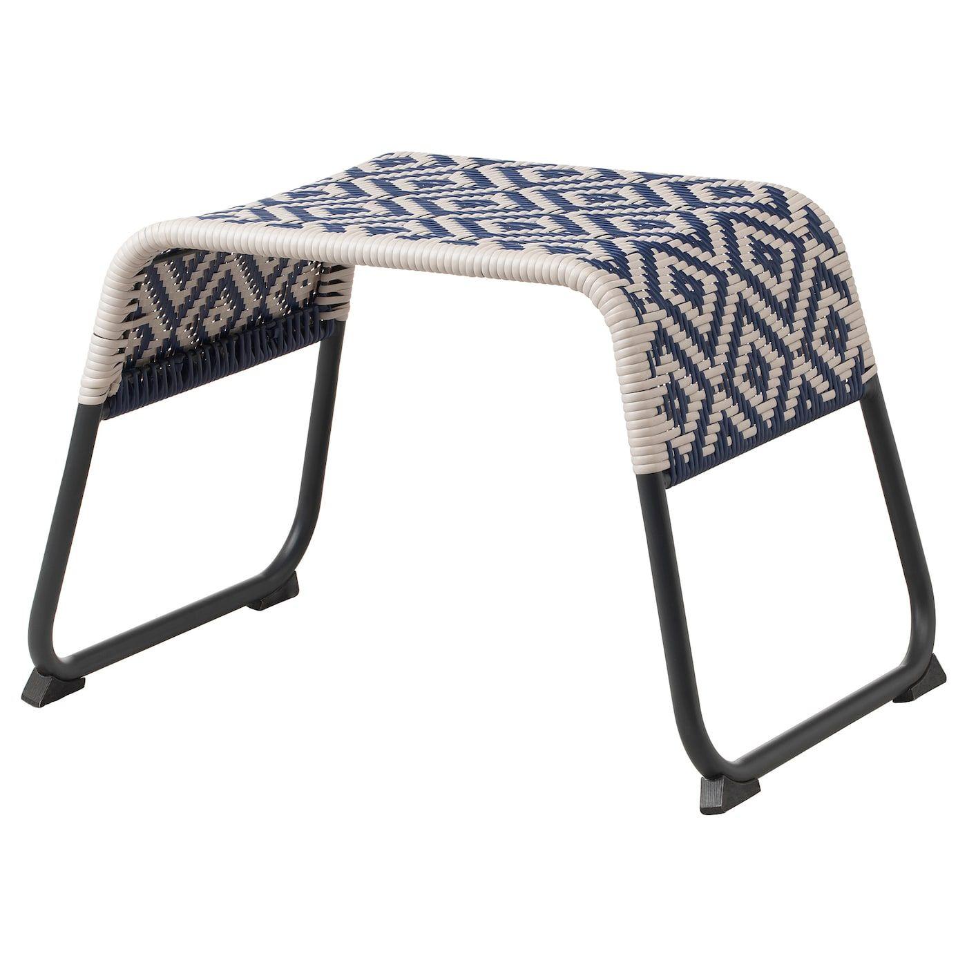 Överallt Repose-Pieds - Extérieur Bleu - Ikea | Repose Pieds ... dedans Siege Jardin Ikea