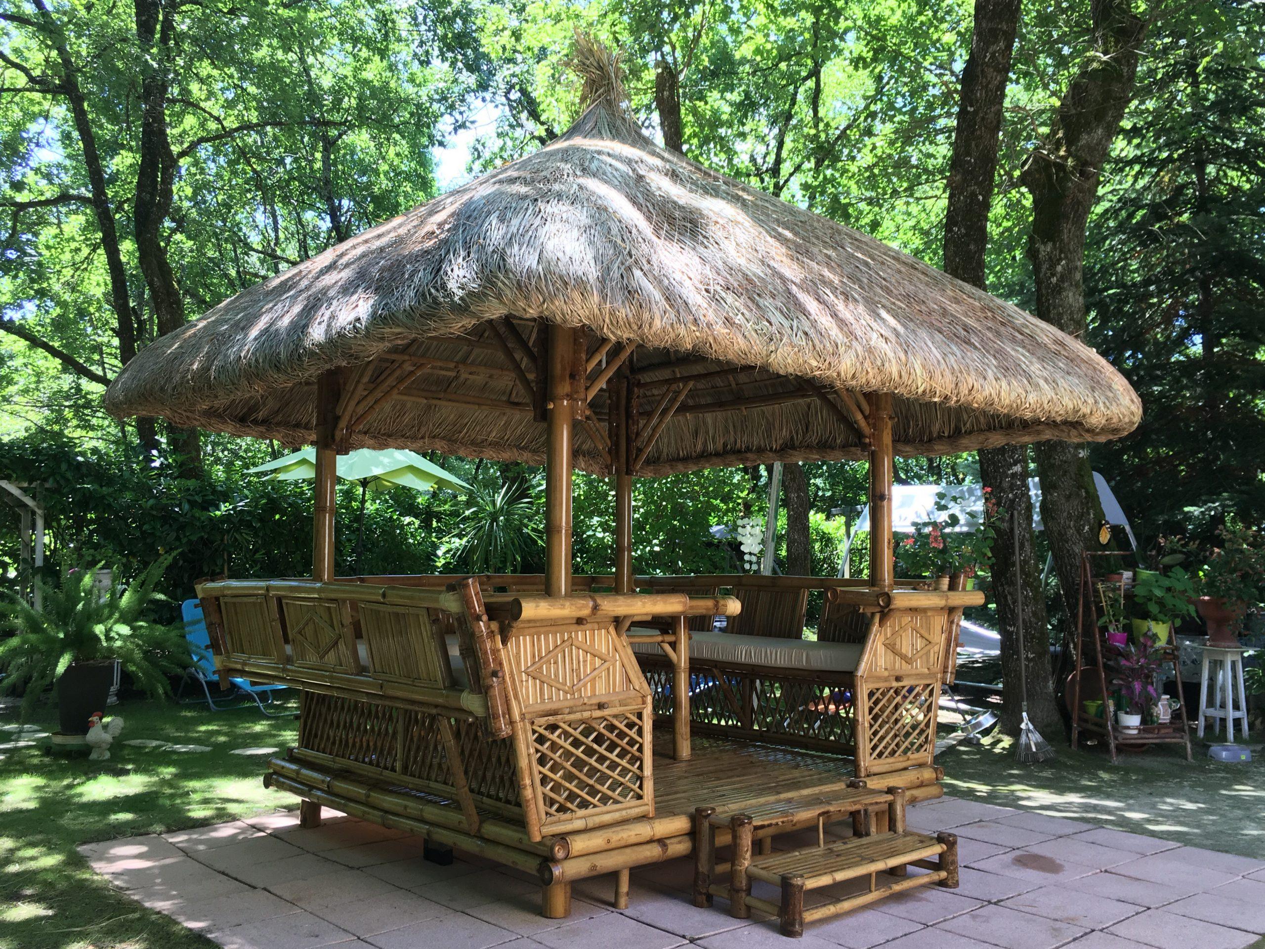 Paillote Chiang Maï - Tendance Bambou destiné Paillote Jardin