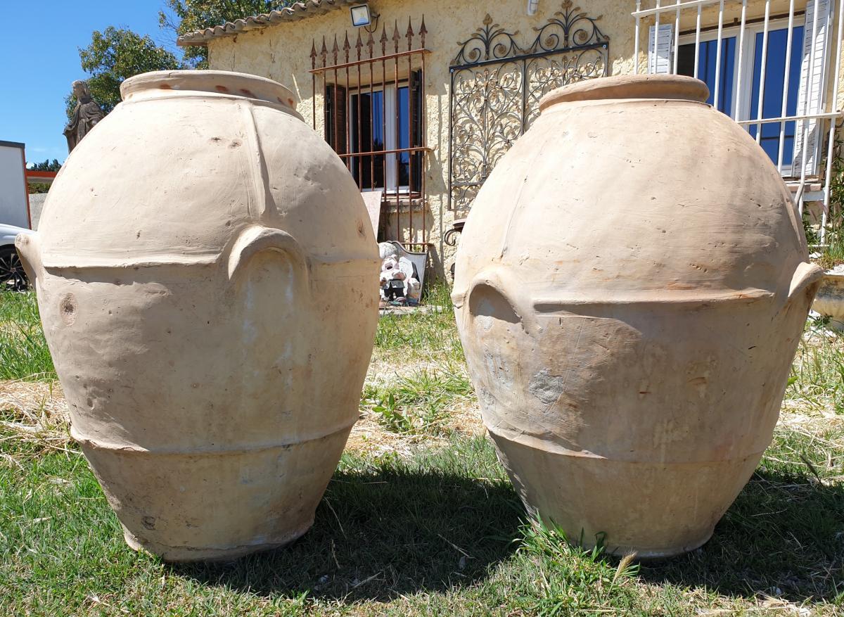 Paire De Jarres En Terre Cuite - Antiquités Du Jardin, Fontaines encequiconcerne Jarre Terre Cuite Pour Jardin