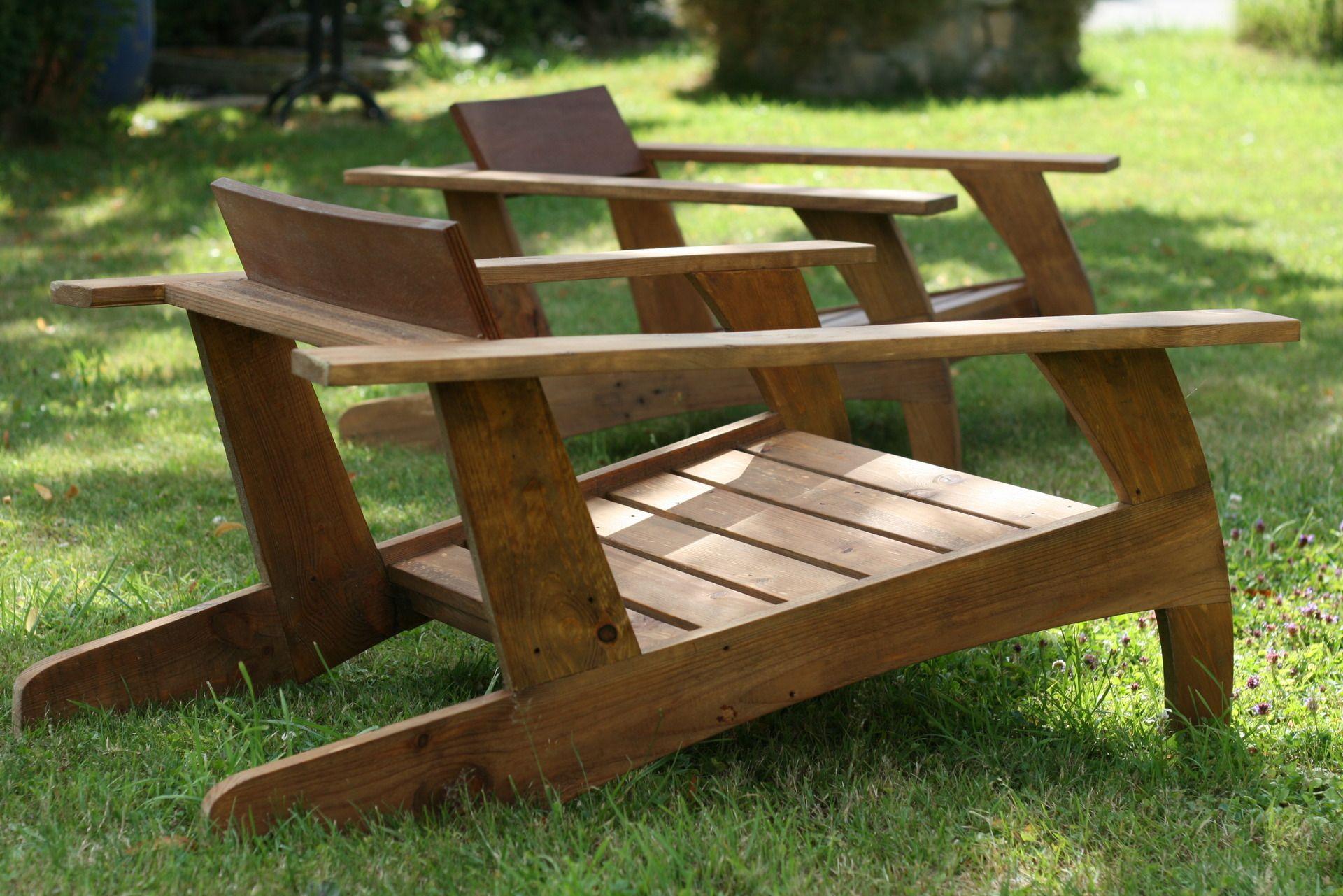 Pallet Wood Chair (Fir) Inspired By 30's Model. Comfortable ... avec Fauteuil De Jardin En Bois Style Americain