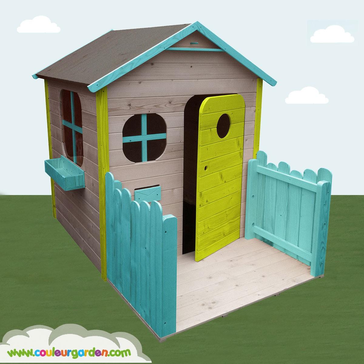 Palplay Ltd. - 0716021 Maison De Jardin Dopey Unicolor Jeux ... dedans Cabane De Jardin Enfant Bois