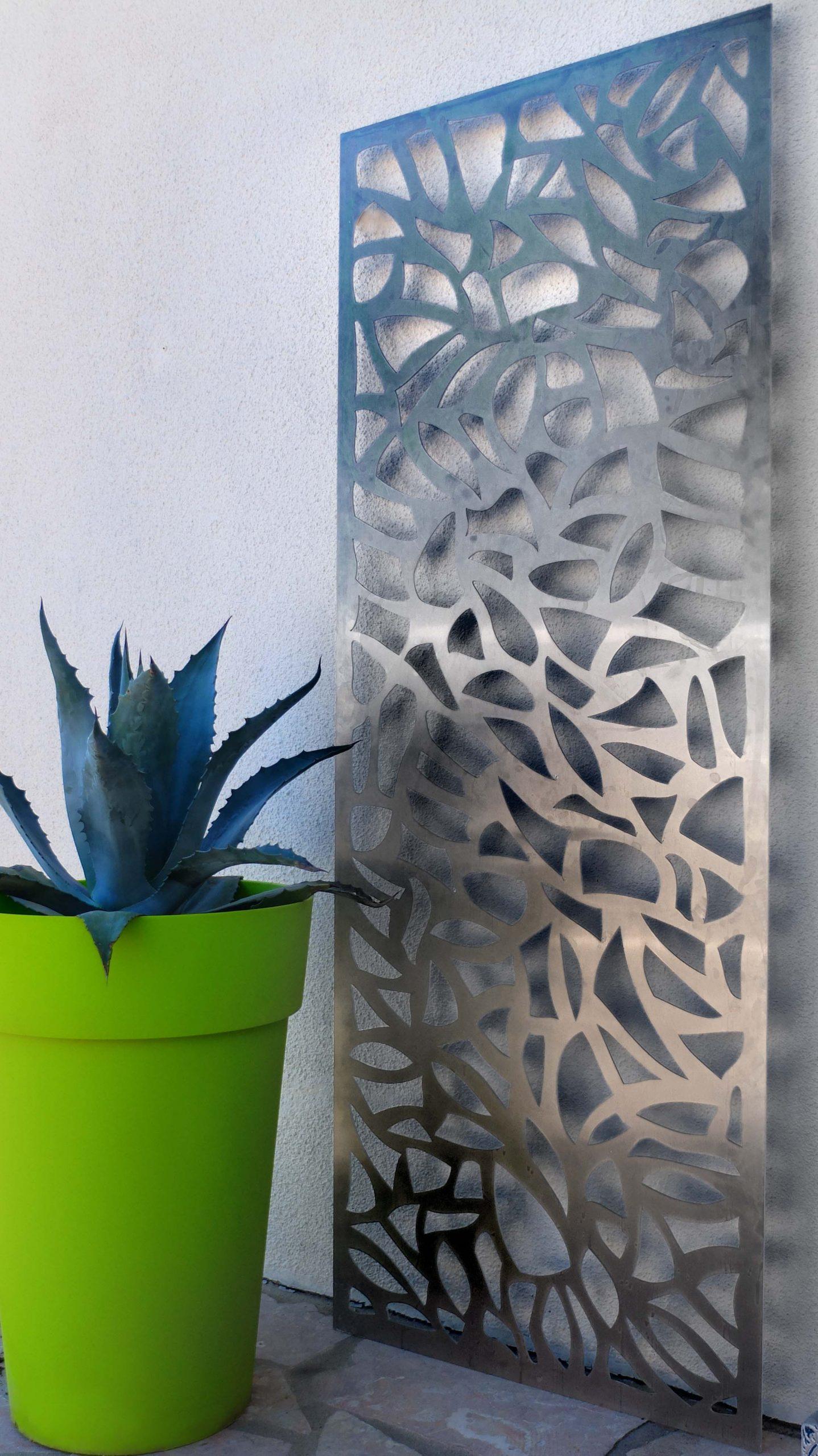Panneau Décoratif Extérieur En Métal (Aluminium). Un Tableau ... avec Clotures Métalliques Jardin