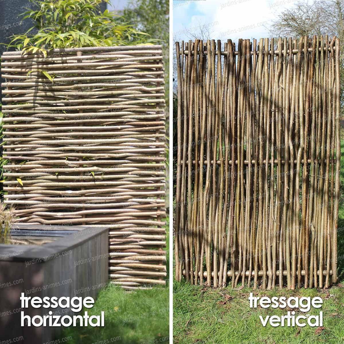 Panneau Noisetier Tressage Horizontal Ou Vertical | Jardins ... intérieur Panneaux Occultants Pour Jardin