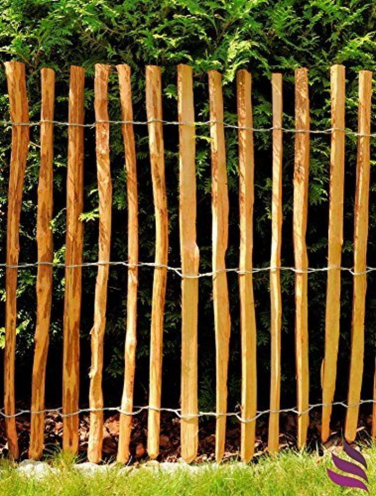 Panneaux De Clôture 4X Steckzaun 120 X 30 Cm Clôture De ... à Panneaux Bois Jardin