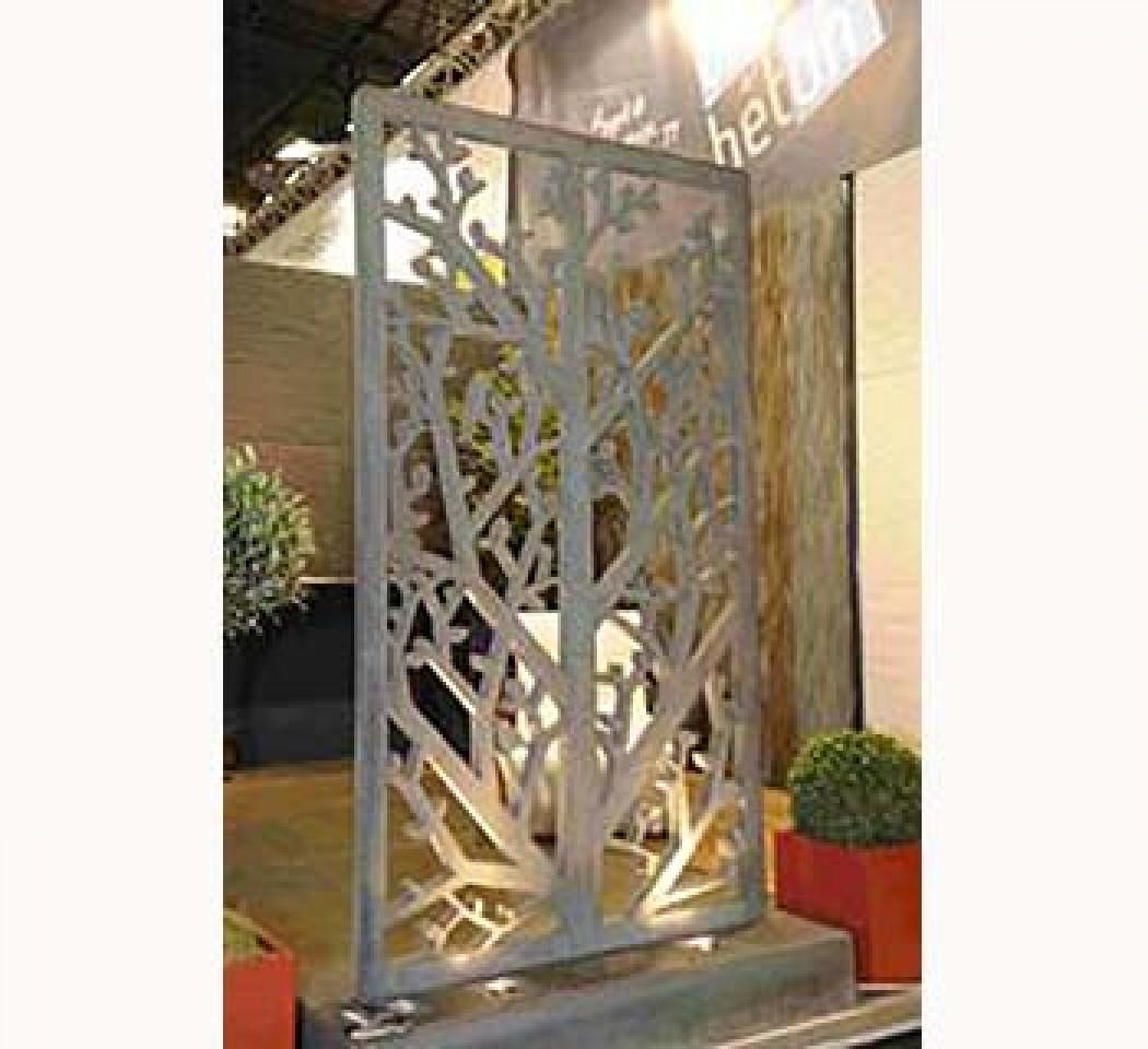 Paravent Sculpté En Béton Gris Ou Blanc, Vision Beton encequiconcerne Paravent De Jardin