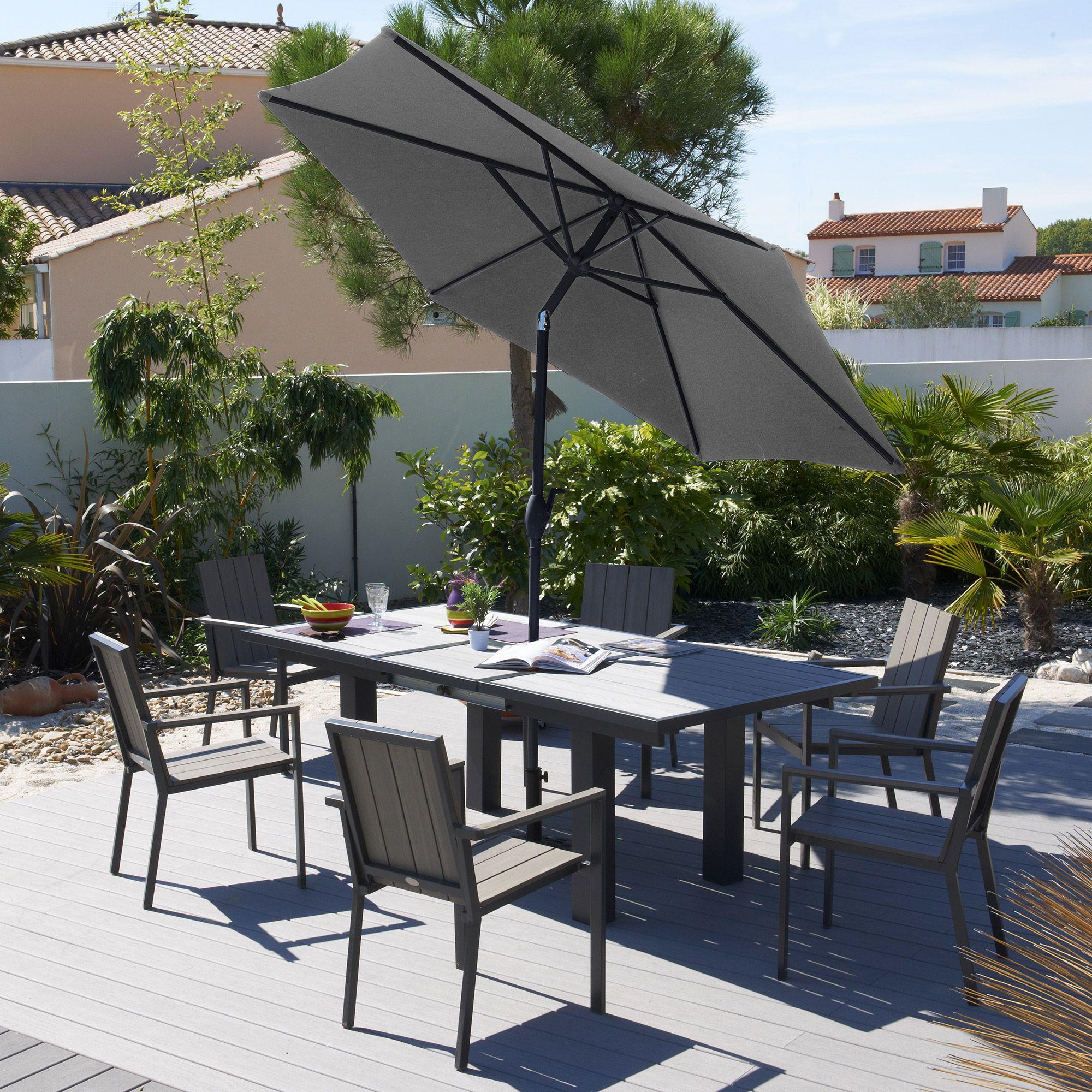 Parfait Pour Cet Été ! Salon Jardin 6 Places Aluminium ... encequiconcerne Salon De Jardin Marque Jardin