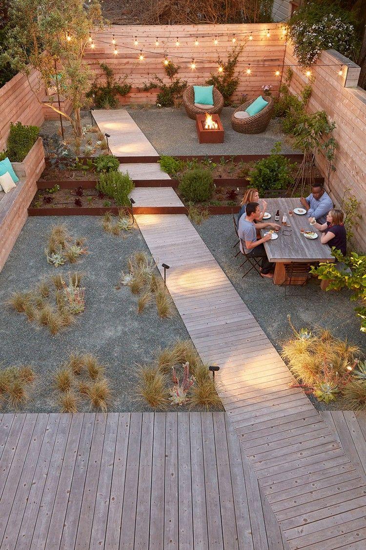 Parquet Chêne Massif, Clôture En Bois Et Jardin Avec ... encequiconcerne Amenagement Jardin Avec Graminees