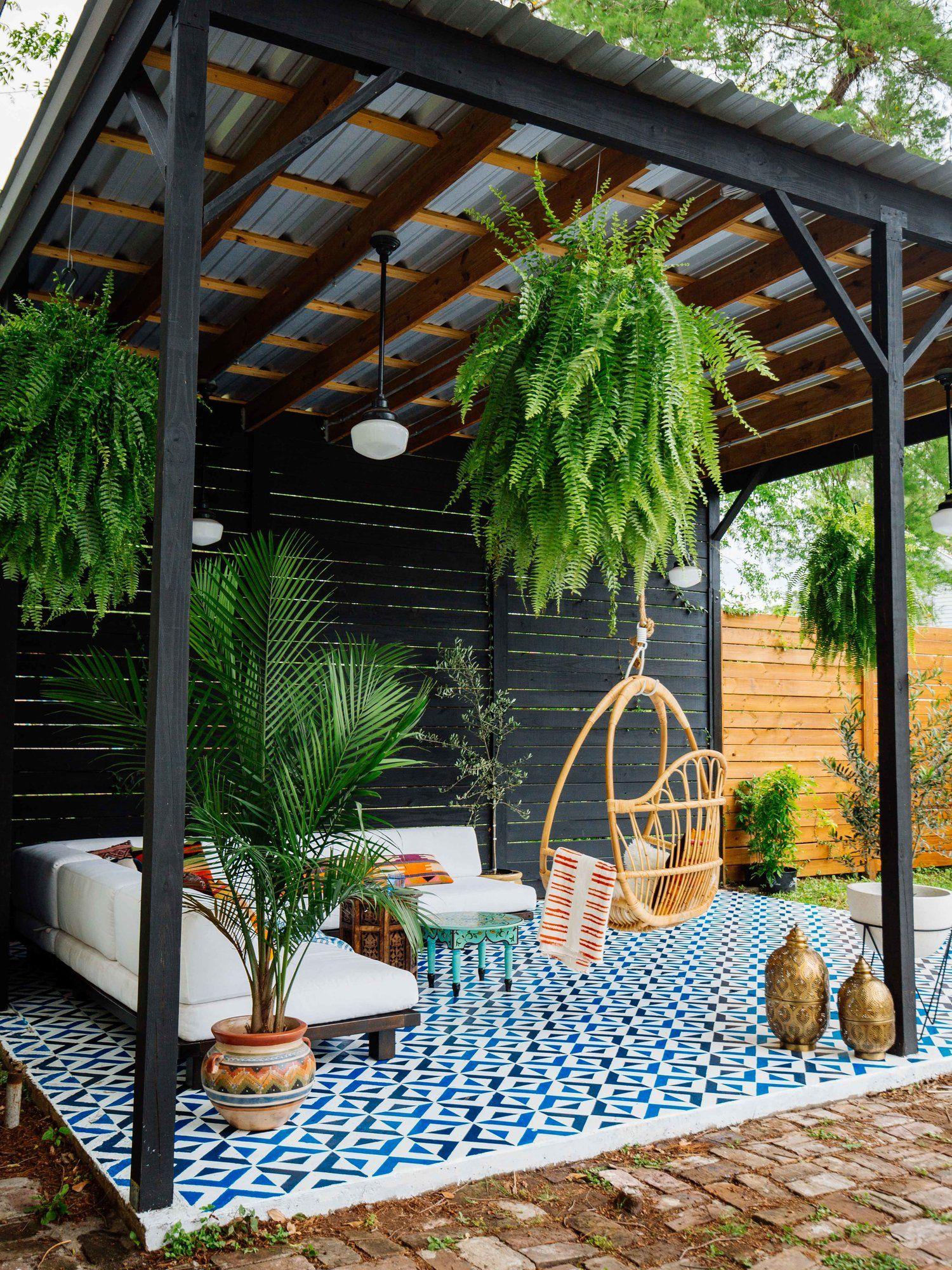 Patio Diy • Painted Floor Tiles | Deco Terrasse Exterieure ... pour Terrase De Jardin