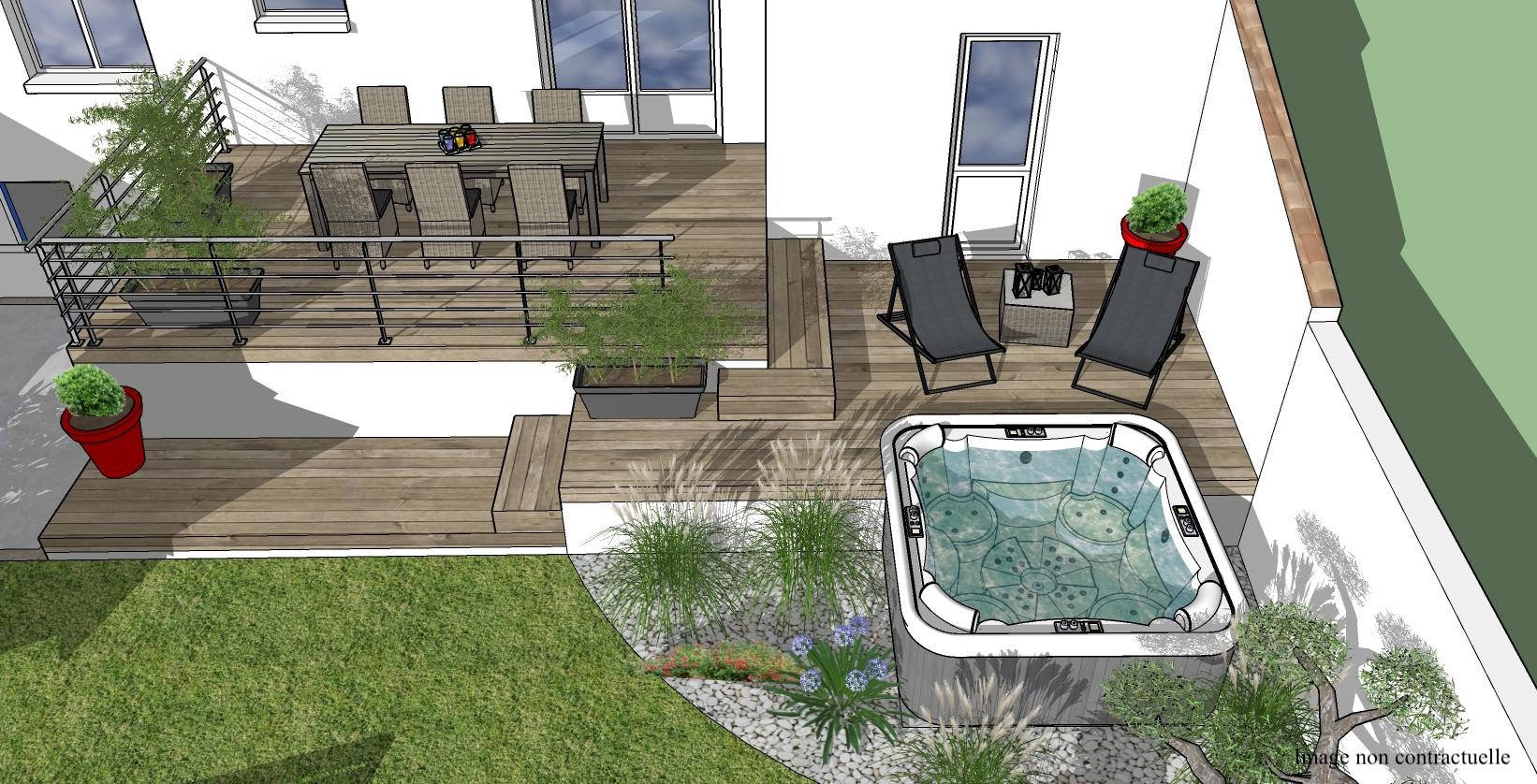 Paysagiste Designer La Rochelle - Mathieu Roussel Paysagiste ... avec Aménagement Jardin Avec Spa