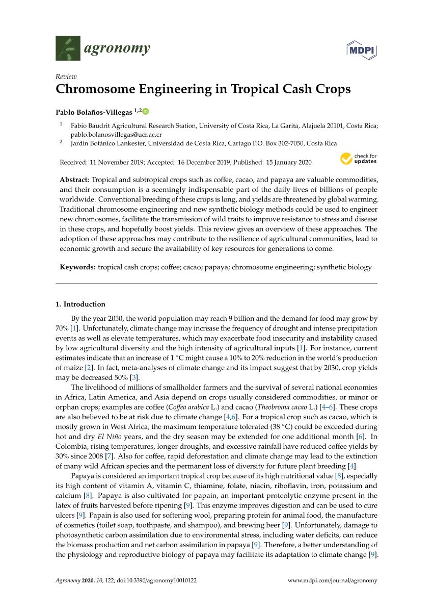 Pdf) Chromosome Engineering In Tropical Cash Crops concernant Vermiculite Jardin