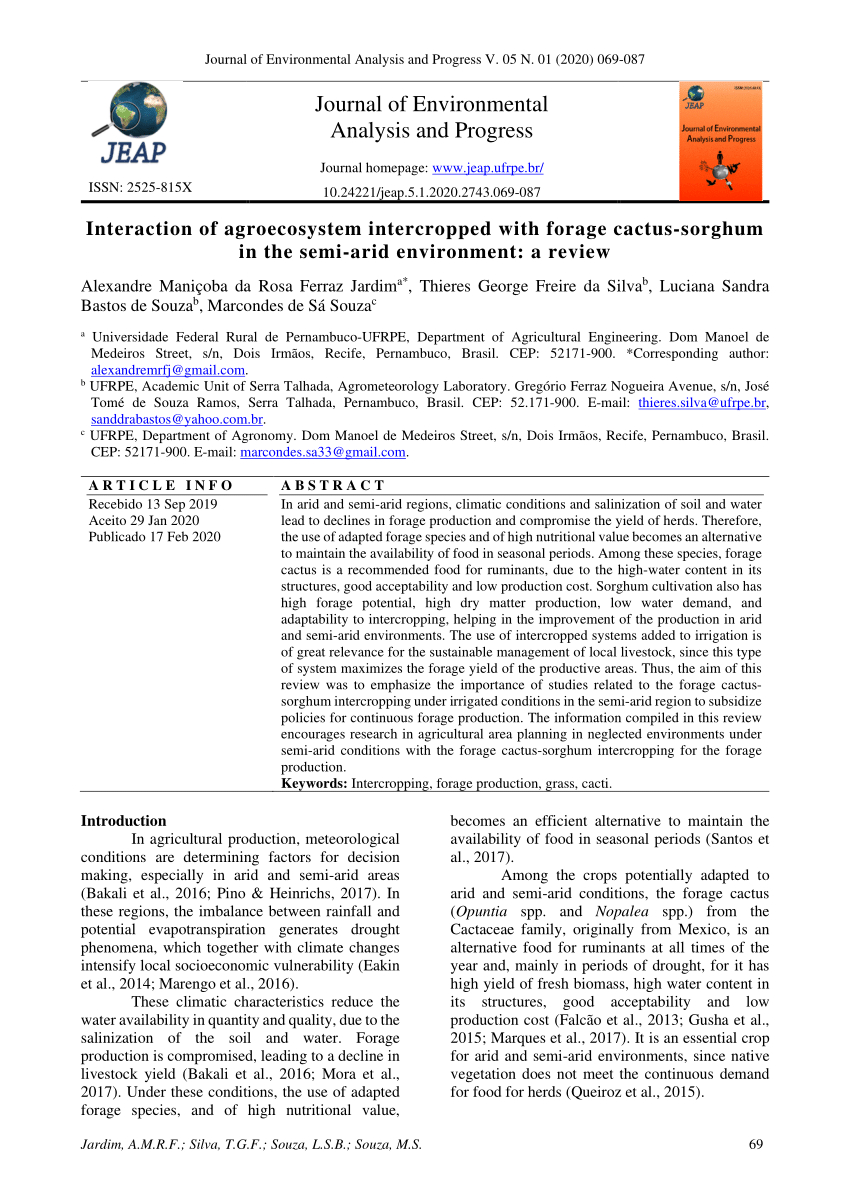 Pdf) Interaction Of Agroecosystem Intercropped With Forage ... à Forage Jardin