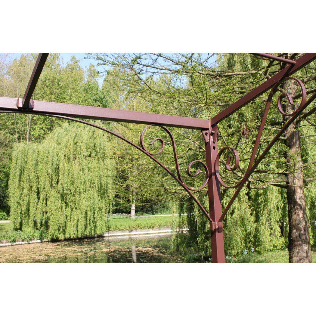 Pergola Autoportante Andalouse, Fer Forgé Rouille, 12 M² Mrj ... encequiconcerne Salon De Jardin Fer Forgé Leroy Merlin