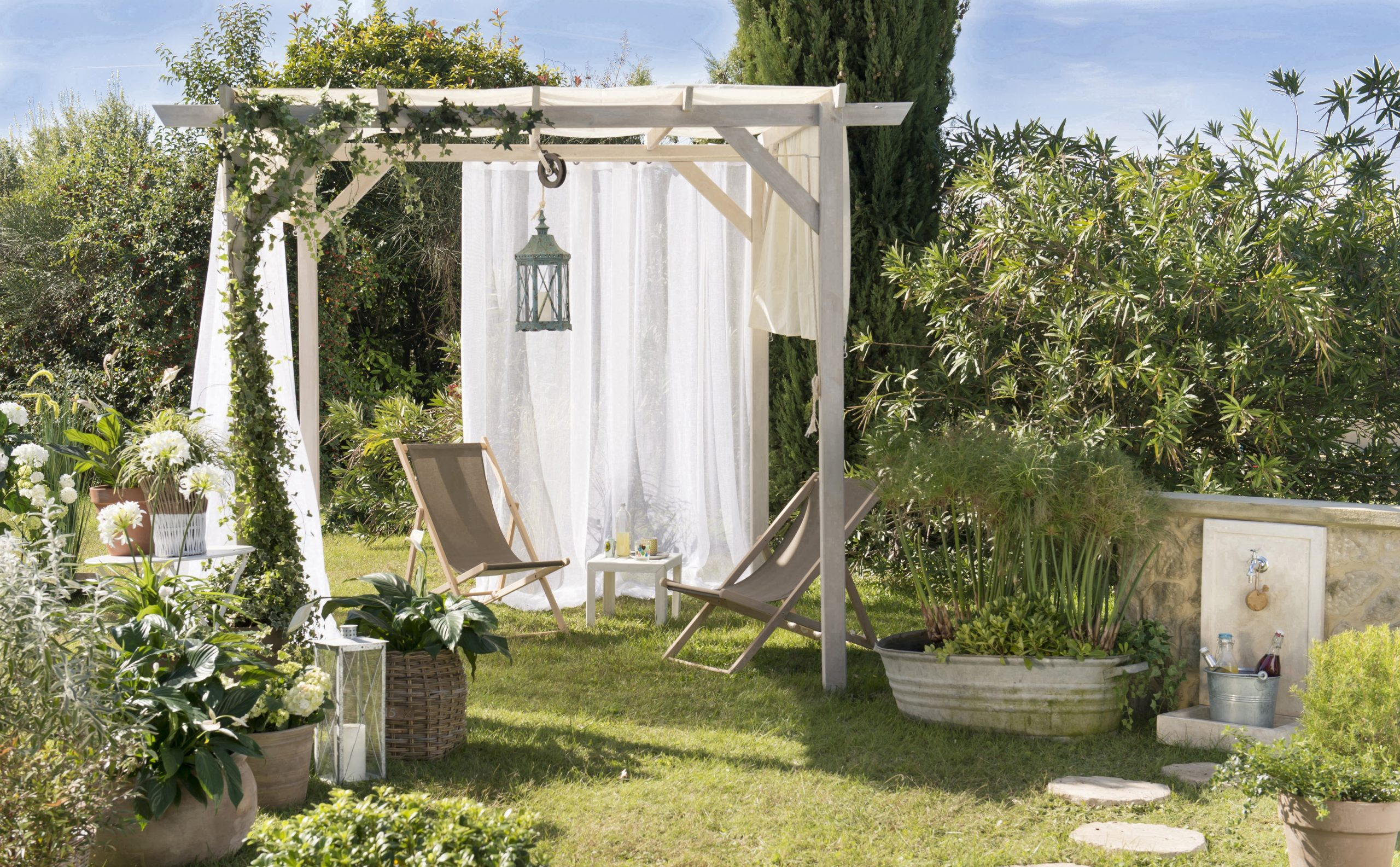 Pergola Autoportante Glycine, Bois Naturel, 9 M² dedans Tonnelle De Jardin Leroy Merlin