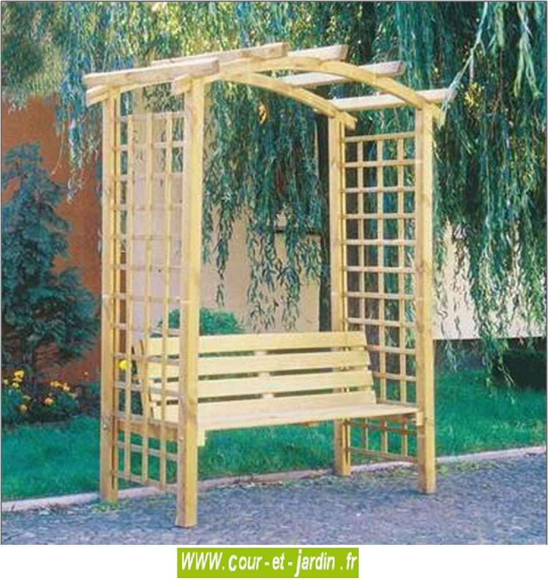 Pergola De Jardin Arcade Avec Banc. Arche Jardin Bois ... avec Arche Bois Jardin