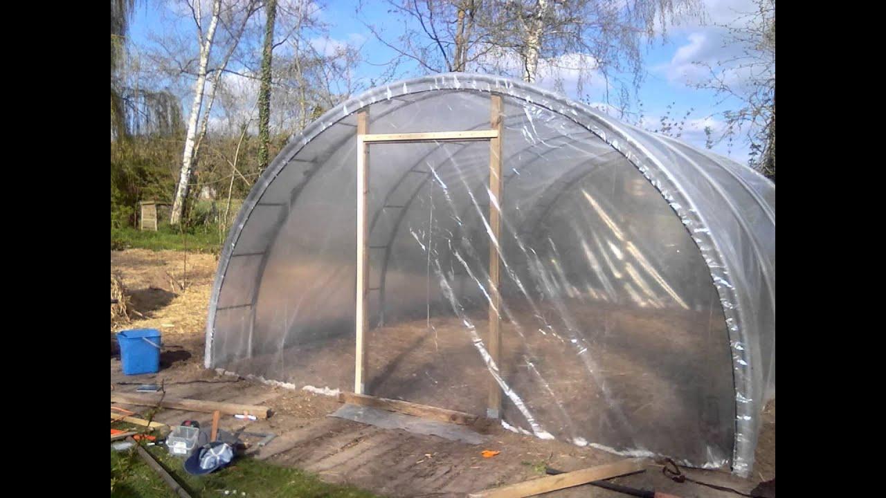 Permaculture - Construction D'une Serre De 26 M2 Pour 250€ intérieur Serre De Jardin Occasion A Vendre