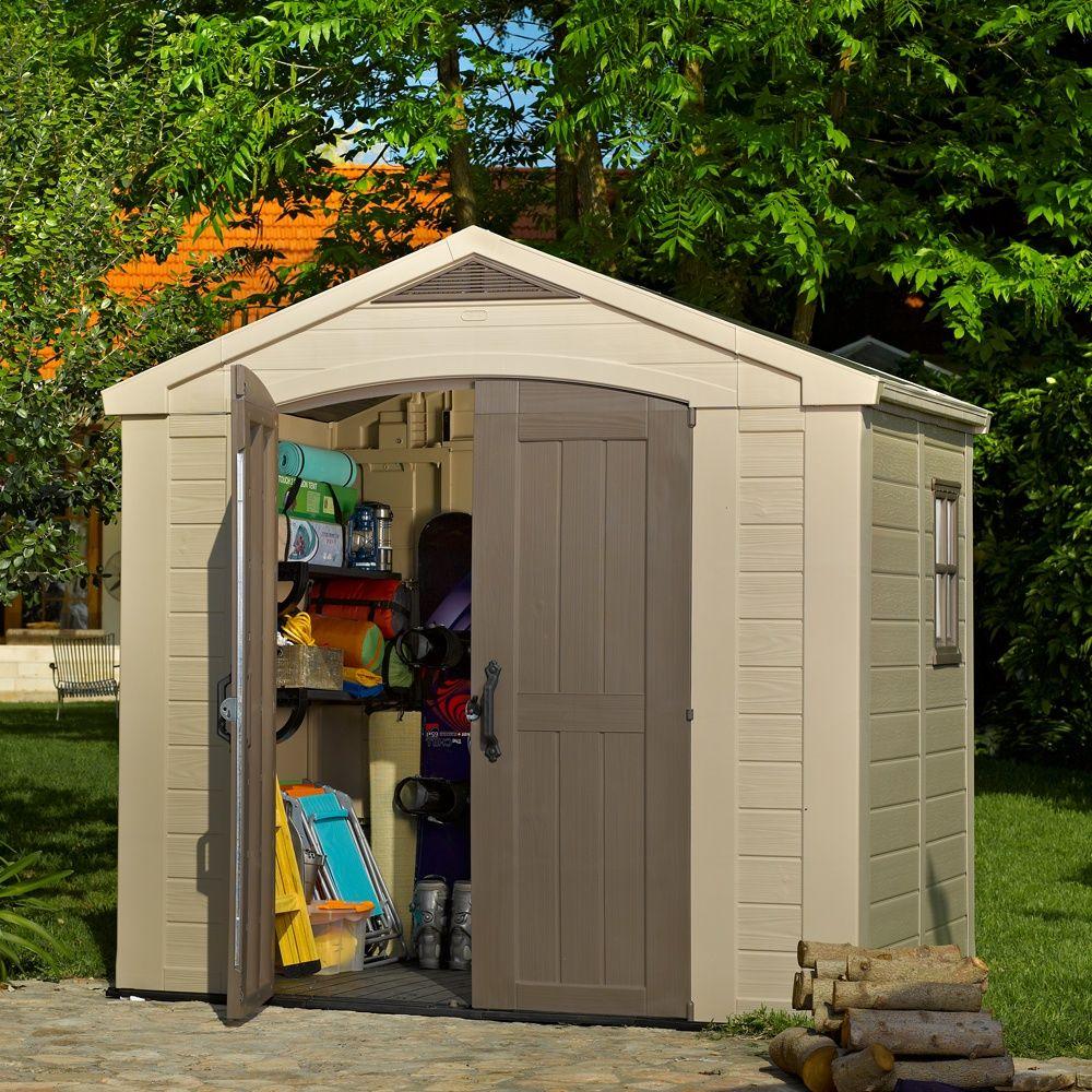 Petit Abri De Jardin Résine Keter 4,67 M² Ep. 16 Mm Sydney 86 pour Cabane De Jardin Resine